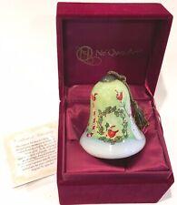 Ne' Qwa Art Joy Red Bird Cardinals Reverse Painted Glass Ornament Susan Winget