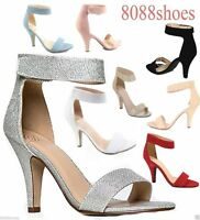 Women's Sexy Open Toe Ankle Strap High Heel Dress Sandals Shoes Size 6 - 11 NEW