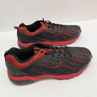 Gravity Defyer Mens Flexnet Synthetic Athletic Shoe Size 11.5 Red Black