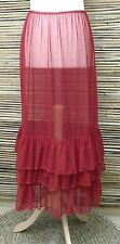 LAGENLOOK LAYERING MAXI PETTICOAT UNDERSKIRT/DRESS***RED*** WAIST UP TO 48""