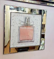 Mirror Frame Perfume Bottle Picture with Glitter Liqud Galss Wall Art 60x60cm