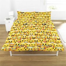 DEFECT SEE DESCR   Emoji Rotary Duvet Set Yellow DOUBLE Set Cover Bedding smiles