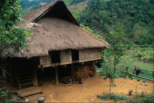 621084 Traditional Muong House In The Hills Hoa Binh A4 Photo Print