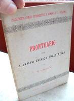 1890 STABILIMENTO CHIMICO FARMACEUTICO BONAVIA BOLOGNA PRONTUARIO PER ANALISI