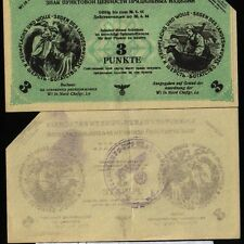 Russia Germany Ostland Wi in nord - 3 Punkte - 1943/1944, KR#36 canceled