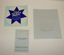 ORIG 1988 WORLD EXPO 88 3 PIECE GUEST LOT - TAG - STICKER - PLACE CARD