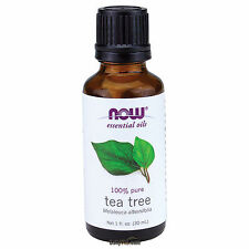 NOW FOODS 100% Pure Tea Tree Oil 1 oz (30 ml) Melaleuca alternifolia Made In USA
