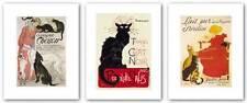 ART CAT PRINTS Set of 3 Theophile Alexandre Steinlen