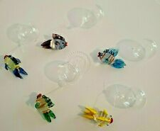 Lot Aquarium Fish Tank Bowl Decoration Float Ball Blown Glass 5 Fish