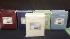 1800 4PC Deep Pocket Embroidered Microfiber Sheet set - Queen size - Ivory