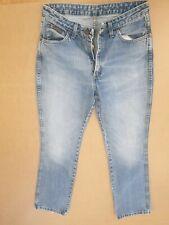 FF997 WOMENS WRANGLER TINA FADED BLUE STRAIGHT LEG DENIM JEANS UK 12 W30 L32