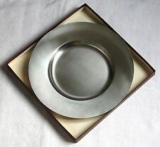CHABANNE, très beau plat rond, acier massif, stainless steel 18/10, ART DECO .