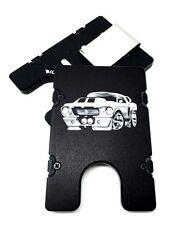 Mustang Shelby Cartoon, Aluminum Wallet/Credit Card Holder, RFID Protection, Blk