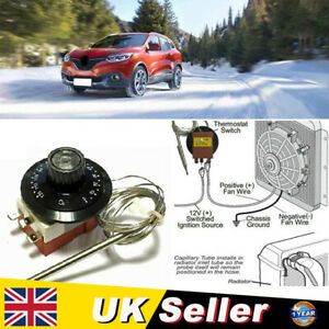 Universal 0-120℃ Car Capillary Thermostat Cooling Radiator Fan Control Switch