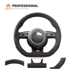 Hand sewing Suede Car Steering Wheel Cover for Audi A5 A7 RS 5 RS 7 S3 S5 SQ5