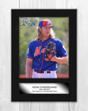 More details for noah syndergaard new york mets a4 signed mounted photograph picture poster