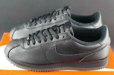 Nike Cortez Basic Leather Triple Black Trainers Sneakers Size UK 7 EU 41 US 8 OG
