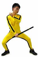 Unisex Classic Game Of Death Costume Kung Fu Yellow Jumpsuit Uniform Vintage