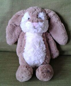 "Jellycat Medium Bashful Wriggle Bunny 11"" Soft Toy Plush Beanie Comforter 2502"