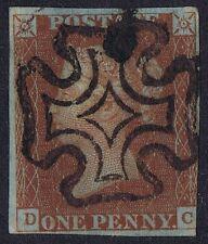 1841 1d Red Pl 13 Dc Upright Maltese Cross Cat £170.00
