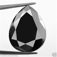 1.00 Ct Fancy Pear cut Natural Loose Black Diamond 1 Pcs for Sale Africa NR00