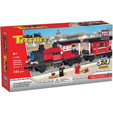 Locomotive with Wagon BricTek Building Block Construction Toy Train Brick