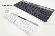 Logitech K750 Tastatur + Ersatzbatterie (Schweiz QWERTZ) Solar Keyboard f. MAC