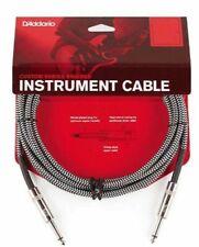 D'Addario Braided Instrument Cable Grey 20 feet PW-BG-20BG