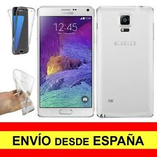 Funda Doble Transparente para SAMSUNG GALAXY NOTE 4 Gel Silicona TPU a2259