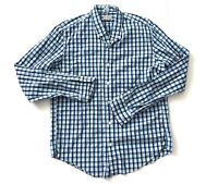 J Crew Blue Plaid Slim Fit Woven Button Down Casual Long Sleeve Shirt Mens Large