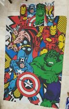 Marvel Comics Single Duvet Cover 1 Case Vintage Avengers Superhero Hulk Thor Bed