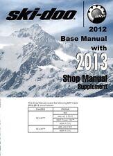 2012 2013 Ski-Doo REV XP REV XR series 600 800R snowmobile service manual on CD