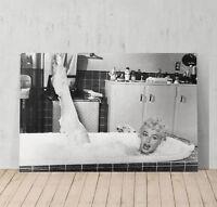 Marilyn Monroe Bubble Bath Decorative Art Canvas Print Modern Wall Décor Artwork