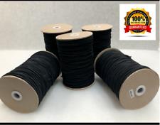 Cuerda Elástica fuerte 3mm Redondo choque Bungee Costura Tapicería ropa Reino Unido Negro