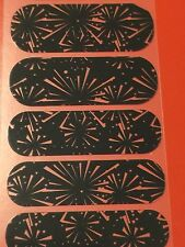 Jamberry Half Sheet - Fireworks - Retired Black and Clear Celebration