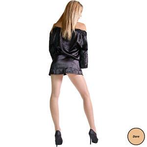 Cecilia de Rafael Libero 15 Seamless Pantyhose | Glossy Sheer Gusset Free Tights
