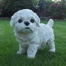 Gartenfigur Hund Westi Malteser Welpe 8648W Garten West Highland Deko Figur