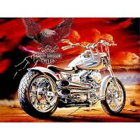 Diamond Painting 5D Full Drill DIY Decor Motorcycle And Eagle Cross Stitch Kit