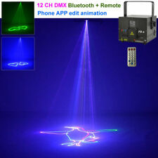 1W RGB Animation Laser Projector DMX ILDA Bluetooth IR DJ Party Stage Lighting T