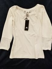 Adidas Climacool Golf Tennis Polo Shirt Women's Brand New White Large