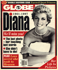 PRINCESS DIANA WE'LL MISS YOU! GLOBE MAGAZINE 1961-1997