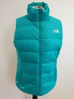 B676 WOMENS THE NORTH FACE 700 GREEN QUILTED PUFFER GILET VEST JACKET UK M 10
