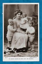 1911 RP PC H.M. QUEEN VICTORIA OF SPAIN WITH HER CHILDREN