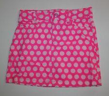 New Carter's Girls Bright Pink Polka Dot Soft Corduroy Skirt 6 Year Adjustable