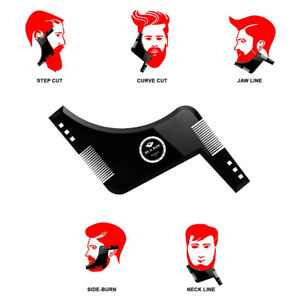 2pcs Men Beard and Hair Shaping Styling Template Comb Double Sided Beauty Tool