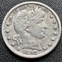 1897 O Barber Quarter 25c New Orleans Rare Key Date Better Grade XF Det. #16868