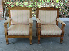 PAIR of ANTIQUE BIEDERMEIER THRONE CHAIR / ARMCHAIR