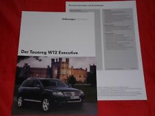 VW Touareg Type 7 L w12 Executive prospectus + liste de prix de 2005