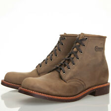 """Chippewa 6"""" Brown Leather Crazy Horse Service Boots - Mens 13 D"""