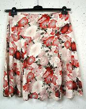 Geblümte knielange Damenröcke aus Baumwollmischung